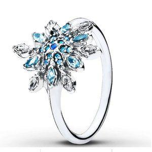 Pandora Sterling Silver Snowflake Ring Size 6